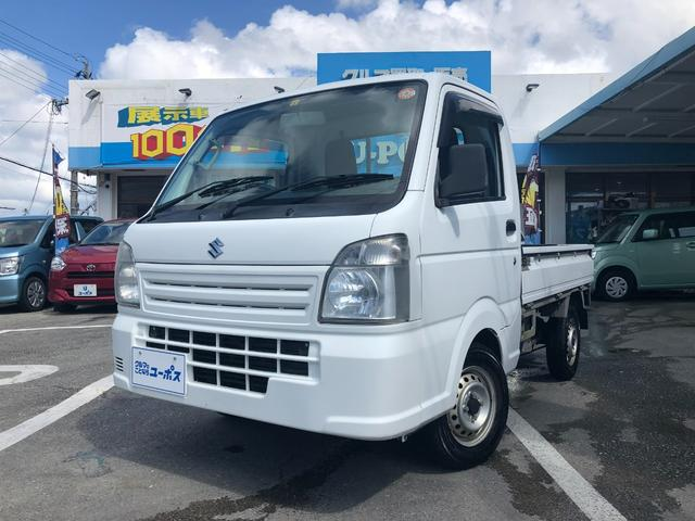 沖縄県の中古車ならキャリイトラック KCエアコン・パワステ OP10年保証対象車 AM/FMオーディオ ライトレベライザー 5MT