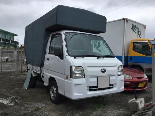 沖縄の中古車 スバル サンバートラック 車両価格 54万円 リ済込 平成22年 11.1万km ホワイト