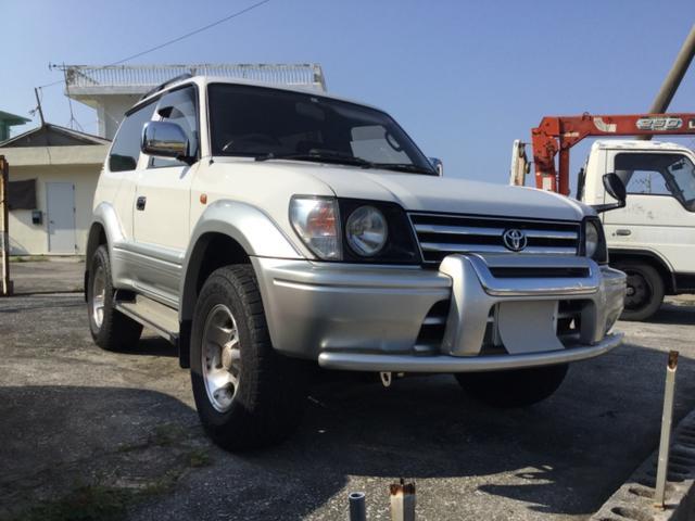 沖縄の中古車 トヨタ ランドクルーザープラド 車両価格 69万円 リ済込 平成9年 37.7万km ホワイトII