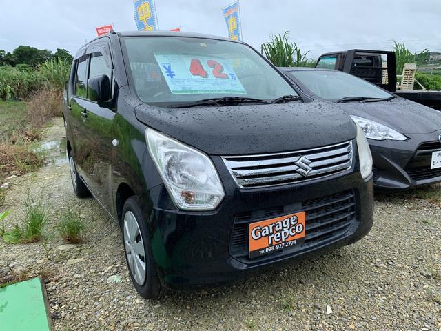 沖縄の中古車 スズキ ワゴンR 車両価格 38万円 リ済込 2012(平成24)年 9.0万km ブラックM