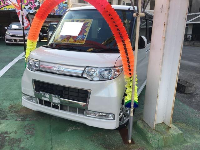沖縄の中古車 ダイハツ タント 車両価格 59万円 リ済別 2008(平成20)年 2.1万km ホワイトIII