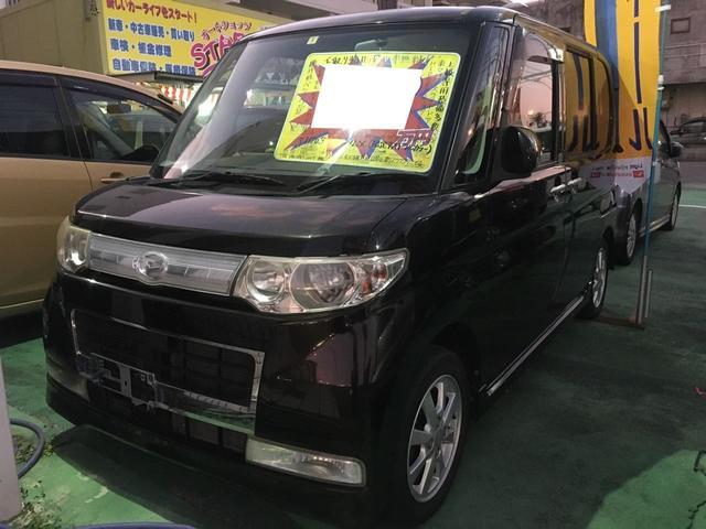 沖縄の中古車 ダイハツ タント 車両価格 50万円 リ済別 2008(平成20)年 5.7万km ブラックII