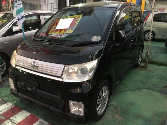 沖縄の中古車 ダイハツ ムーヴ 車両価格 32万円 リ済別 2010(平成22)年 11.2万km ブラックII