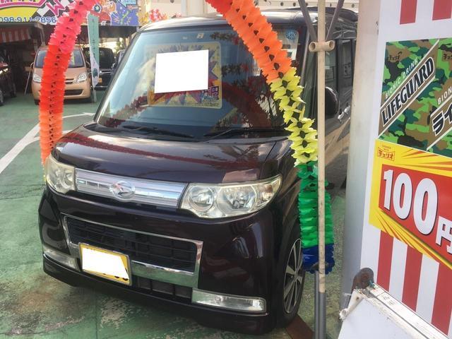 沖縄の中古車 ダイハツ タント 車両価格 38万円 リ済別 2009(平成21)年 10.7万km ブラウンM