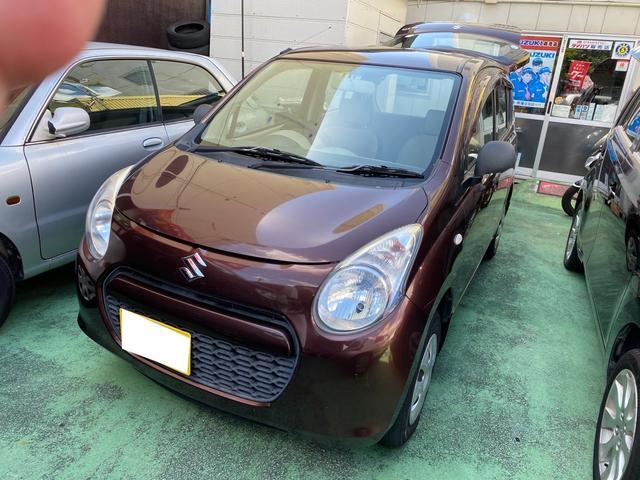 沖縄の中古車 スズキ アルト 車両価格 16万円 リ済別 2011(平成23)年 16.0万km ブラウンM