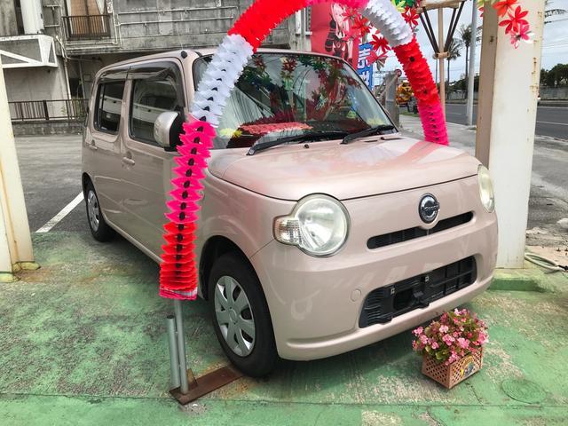 沖縄の中古車 ダイハツ ミラココア 車両価格 43万円 リ済込 2010(平成22)年 5.9万km ピンク
