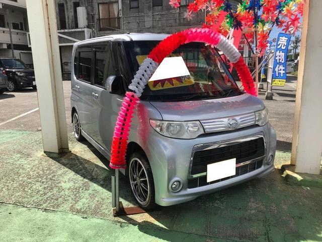 沖縄の中古車 ダイハツ タント 車両価格 56万円 リ済込 2012(平成24)年 7.4万km シルバー