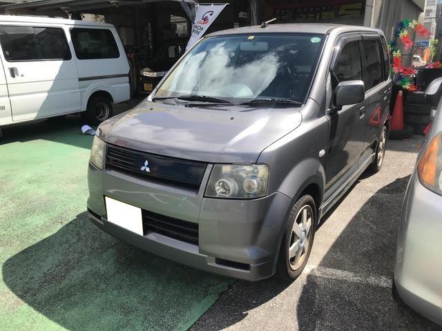 沖縄の中古車 三菱 eKワゴン 車両価格 10万円 リ済込 2003(平成15)年 13.3万km グレー