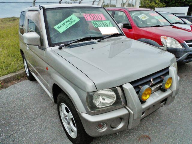 沖縄の中古車 三菱 パジェロミニ 車両価格 44万円 リ済込 平成12年 5.7万km シルバー