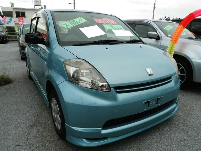 沖縄の中古車 トヨタ パッソ 車両価格 53万円 リ済込 平成17年 6.7万km ブルー