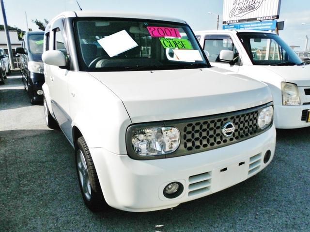 沖縄の中古車 日産 キューブ 車両価格 49万円 リ済込 平成19年 9.8万km パール