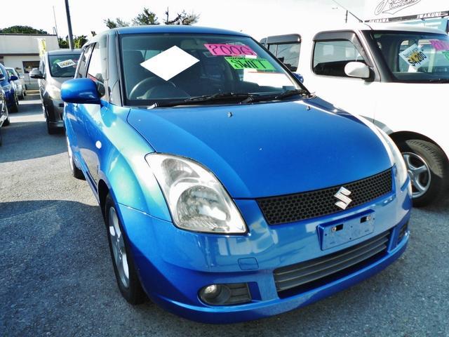 沖縄の中古車 スズキ スイフト 車両価格 51万円 リ済込 平成18年 10.8万km ブルーM