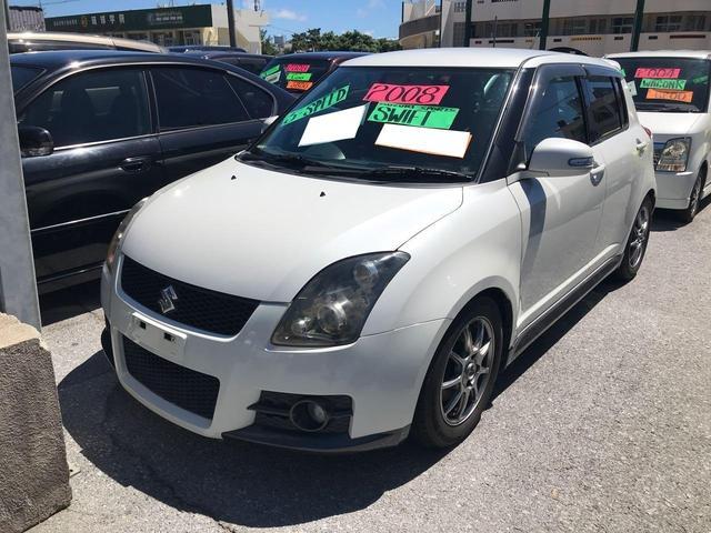 沖縄の中古車 スズキ スイフト 車両価格 67万円 リ済込 2008(平成20)年 9.9万km パールホワイト