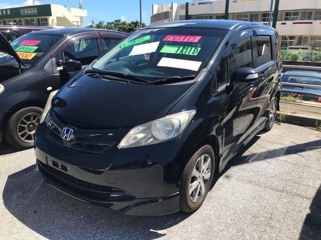 沖縄の中古車 ホンダ フリード 車両価格 67万円 リ済込 2010(平成22)年 11.0万km ブラック