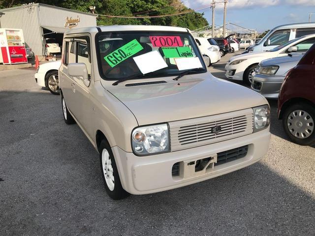 沖縄の中古車 スズキ アルトラパン 車両価格 52万円 リ済込 2004(平成16)年 7.0万km クリーム