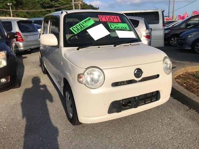 沖縄の中古車 ダイハツ ミラココア 車両価格 52万円 リ済込 2009(平成21)年 12.3万km パール