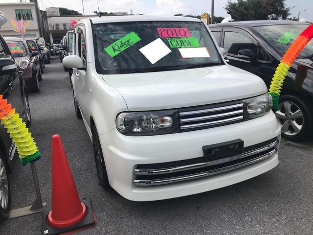 沖縄の中古車 日産 キューブ 車両価格 63万円 リ済込 2010(平成22)年 10.5万km パール