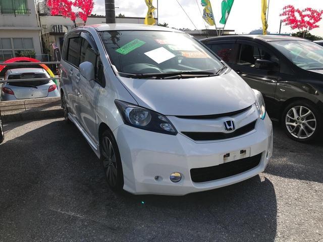 沖縄の中古車 ホンダ フリード 車両価格 69万円 リ済込 2009(平成21)年 11.3万km パールホワイト