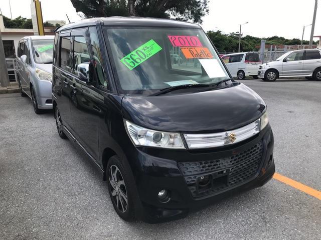 沖縄の中古車 スズキ パレットSW 車両価格 63万円 リ済込 2010(平成22)年 10.1万km ブラック