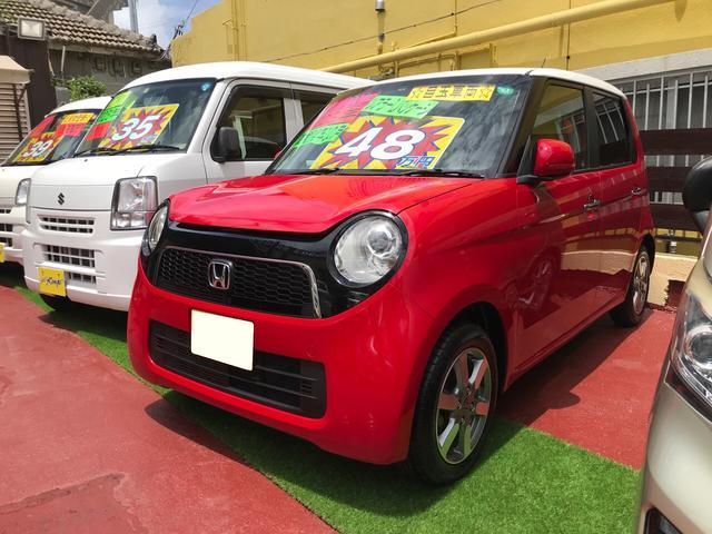 沖縄の中古車 ホンダ N-ONE 車両価格 48万円 リ済込 2013(平成25)年 9.3万km ミラノレッド