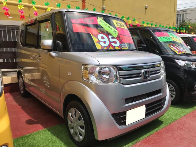 沖縄の中古車 ホンダ N-BOX 車両価格 95万円 リ済込 2016(平成28)年 5.2万km シルバーM