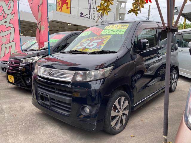 沖縄の中古車 スズキ ワゴンRスティングレー 車両価格 35万円 リ済込 2012(平成24)年 11.3万km ブラックM