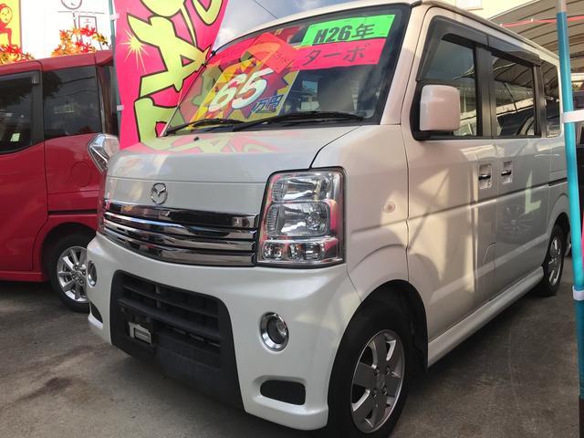 沖縄県の中古車ならスクラムワゴン PZターボ インタークーラーターボ 左パワースライドドア フォグランプ レザー調シートカバー