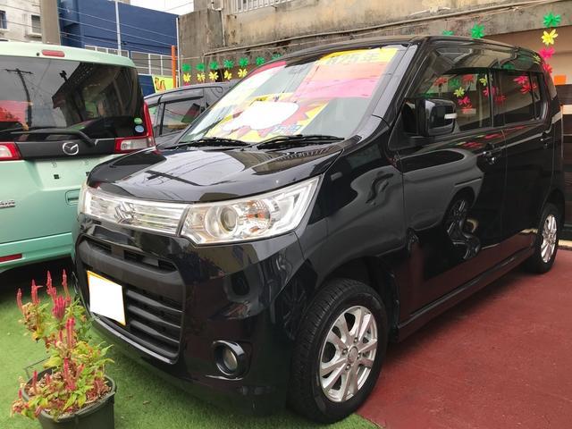 沖縄の中古車 スズキ ワゴンRスティングレー 車両価格 39万円 リ済込 2013(平成25)年 12.8万km ブルーイッシュブラックパール3