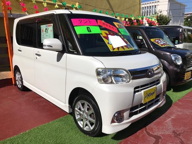沖縄県の中古車ならタント G スマートキー キーフリースタート 左パワースライドドア アイドリングストップ ナビ TV バックカメラ Bluetooth ベンチシート