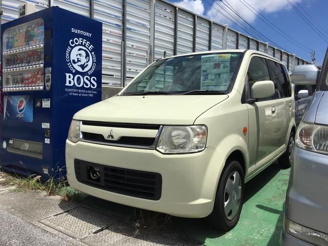沖縄の中古車 三菱 eKワゴン 車両価格 16万円 リ済込 平成19年 11.0万km クリームホワイト