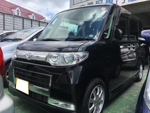 沖縄の中古車 ダイハツ タント 車両価格 37万円 リ済込 平成20年 11.4万km ブラックマイカ