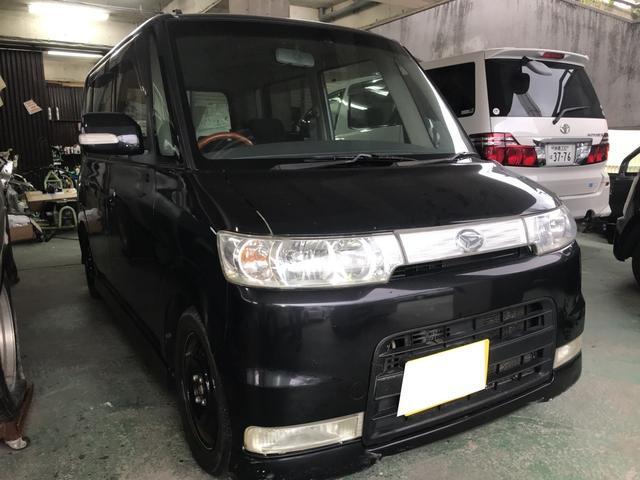 沖縄の中古車 ダイハツ タント 車両価格 17万円 リ済込 平成19年 16.2万km ブラックマイカ
