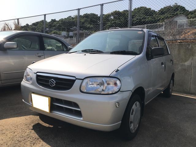 沖縄の中古車 スズキ アルト 車両価格 14万円 リ済込 平成15年 4.8万km シルキーシルバーメタリック