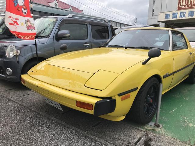 沖縄の中古車 マツダ サバンナRX-7 車両価格 179万円 リ済込 昭和54年 9.0万km イエローM