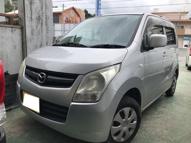 沖縄の中古車 マツダ AZワゴン 車両価格 24万円 リ済込 平成20年 15.6万km シルバーM