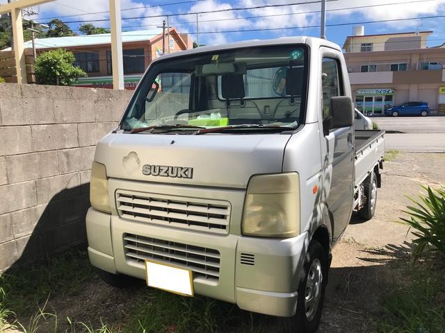 沖縄の中古車 スズキ キャリイトラック 車両価格 32万円 リ済込 2003(平成15)年 6.2万km シルバーM