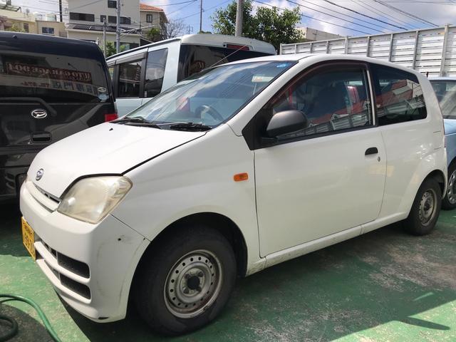 沖縄の中古車 ダイハツ ミラ 車両価格 17万円 リ済込 2008(平成20)年 12.0万km オフホワイト