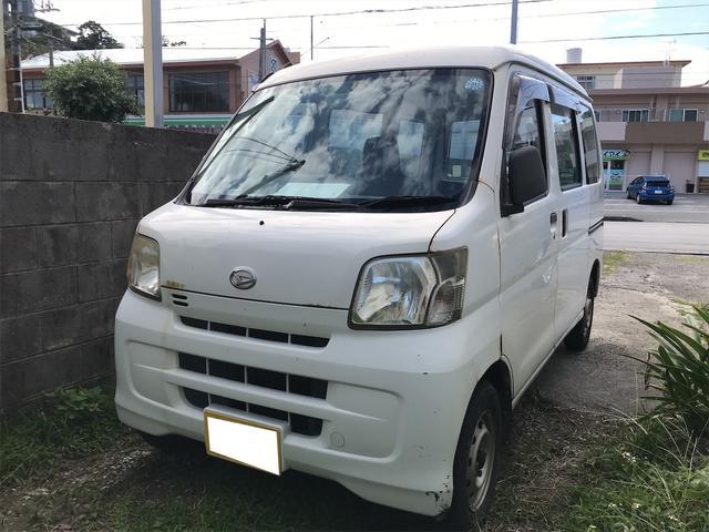 沖縄の中古車 ダイハツ ハイゼットカーゴ 車両価格 14万円 リ済込 2008(平成20)年 21.6万km ホワイト