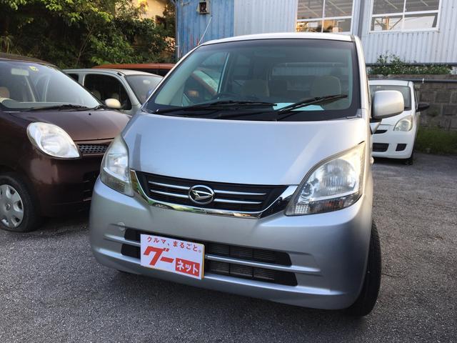 沖縄の中古車 ダイハツ ムーヴ 車両価格 20万円 リ済込 平成21年 12.8万km ブライトシルバーメタリック