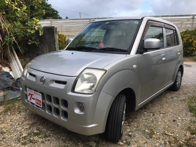 沖縄の中古車 日産 ピノ 車両価格 15万円 リ済込 平成21年 12.3万km シルバー