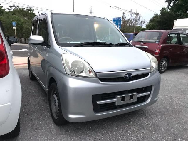 沖縄の中古車 スバル ステラ 車両価格 15万円 リ済込 平成20年 12.3万km シルバー