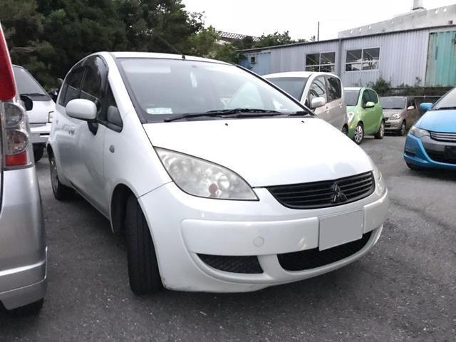 沖縄の中古車 三菱 コルト 車両価格 7万円 リ済込 平成19年 17.3万km ホワイト