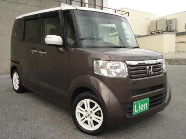 沖縄の中古車 ホンダ N BOX 車両価格 98万円 リ済込 平成26年 8.4万km ブラウンII 2トーン