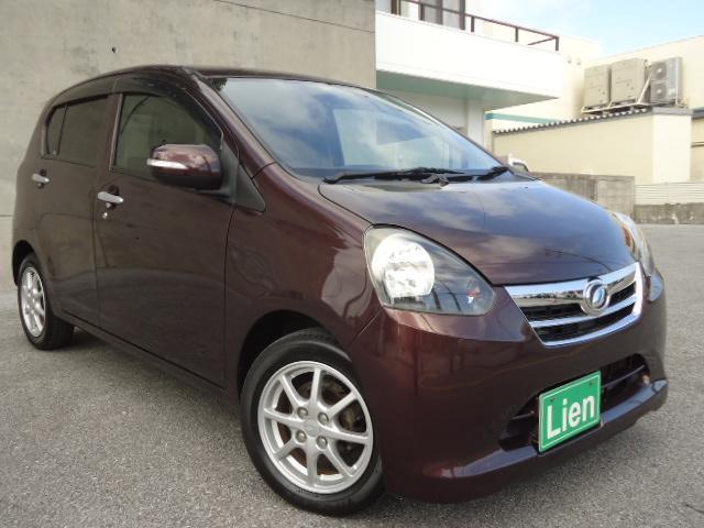 沖縄の中古車 ダイハツ ミライース 車両価格 39万円 リ済込 平成23年 9.3万km ブラウンM