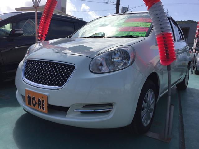 沖縄の中古車 日産 マーチ 車両価格 53万円 リ済込 平成22年 6.4万km パール