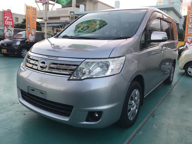 沖縄の中古車 日産 セレナ 車両価格 49万円 リ済込 平成20年 8.5万km シルバー