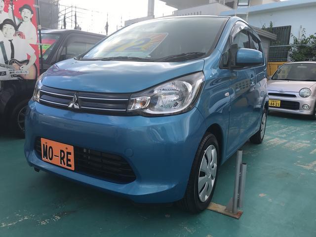 沖縄の中古車 三菱 eKワゴン 車両価格 64万円 リ済込 2013(平成25)年 2.9万km ブルー