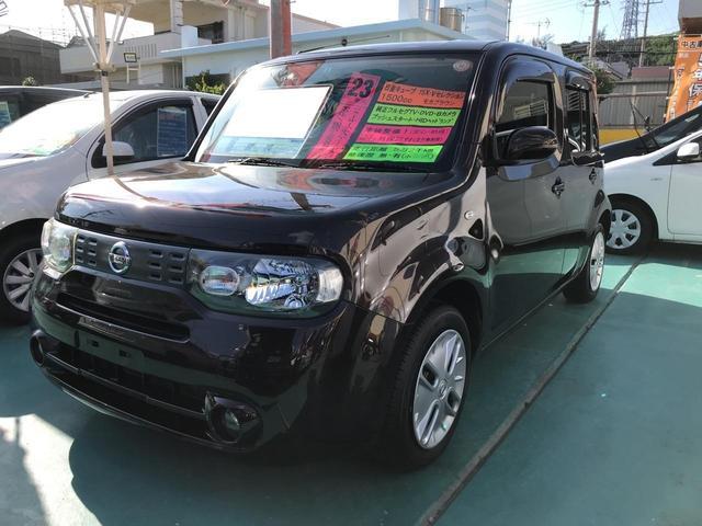 沖縄の中古車 日産 キューブ 車両価格 58万円 リ済込 平成23年 5.3万km ブラウン