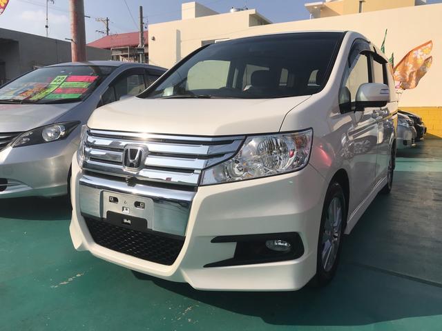沖縄の中古車 ホンダ ステップワゴンスパーダ 車両価格 95万円 リ済込 平成22年 10.1万km パール
