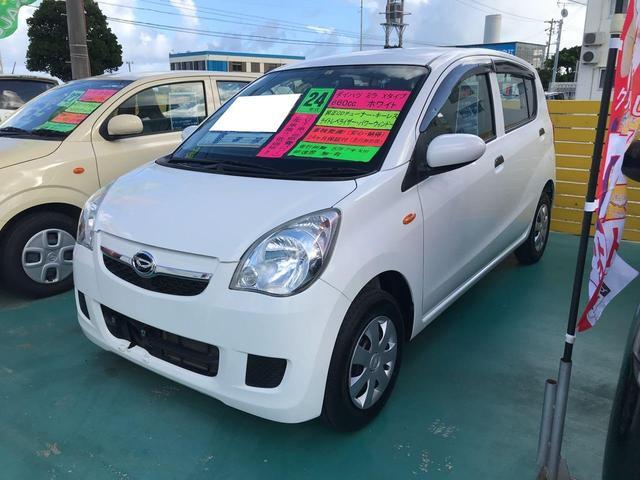 沖縄の中古車 ダイハツ ミラ 車両価格 42万円 リ済込 2012(平成24)年 5.8万km パールホワイト